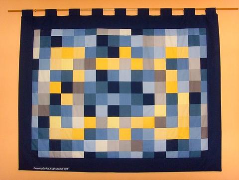 Arazzo Bauhaus su modello di Gertrude Arndt
