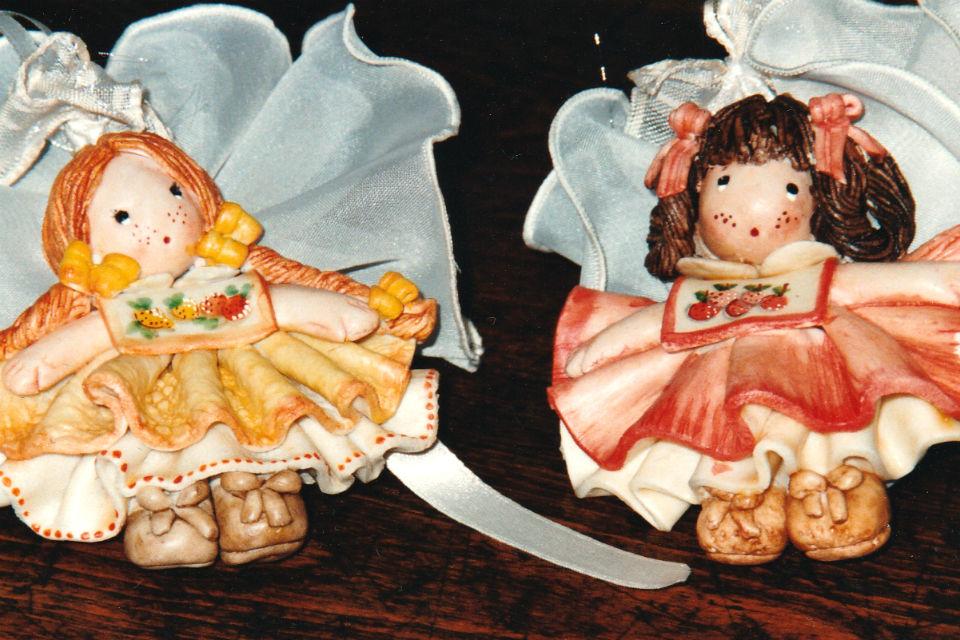 Bamboline bomboniere di pasta di sale 0