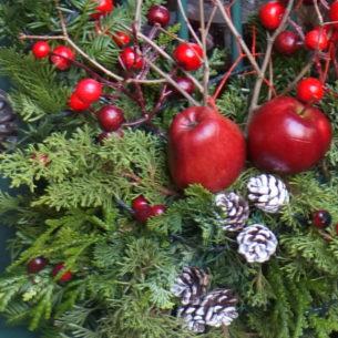 Decorazione natalizia della porta d'ingresso 8
