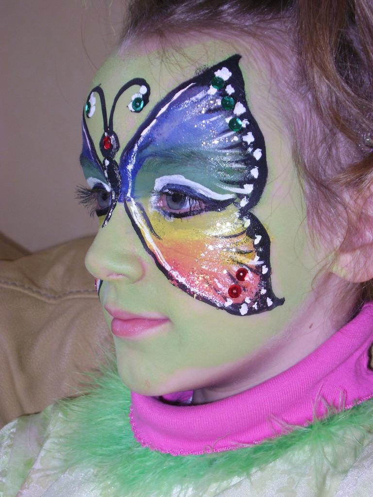 Makeup e vestito da farfalla