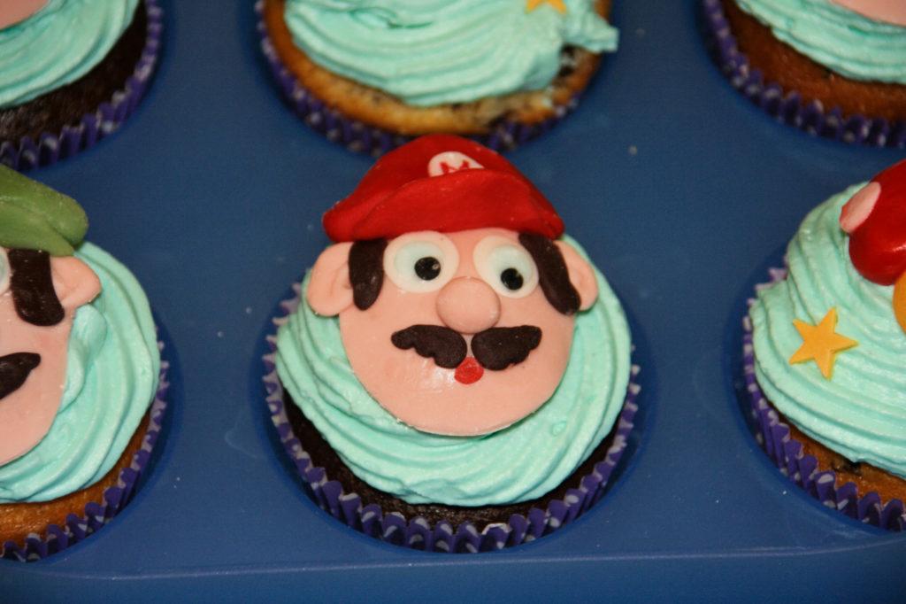 """Muffin """"Mario"""", fiori e funghi 5"""