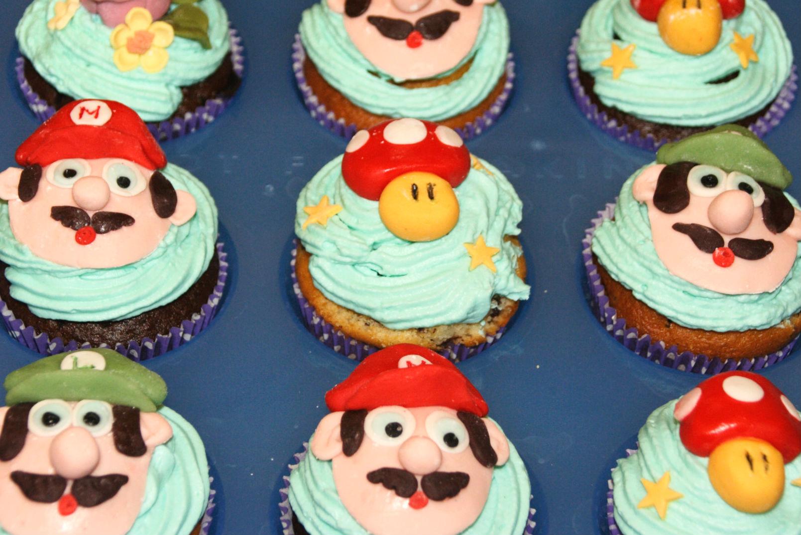 """Muffin """"Mario"""", fiori e funghi 7"""