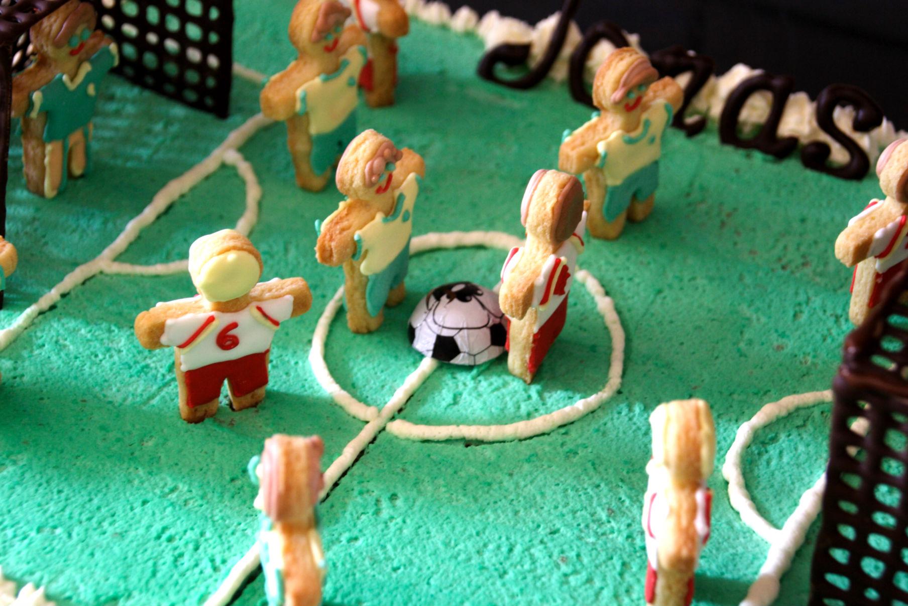 Torta giocatori in campo 8