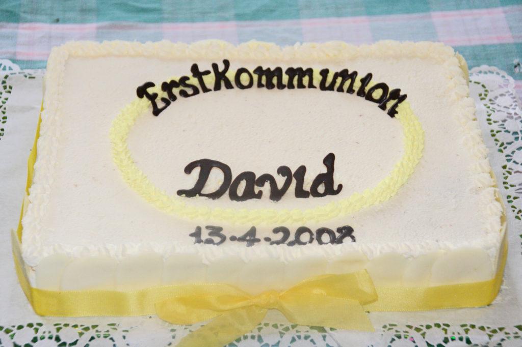 Torta per la Prima Comunione di David 1