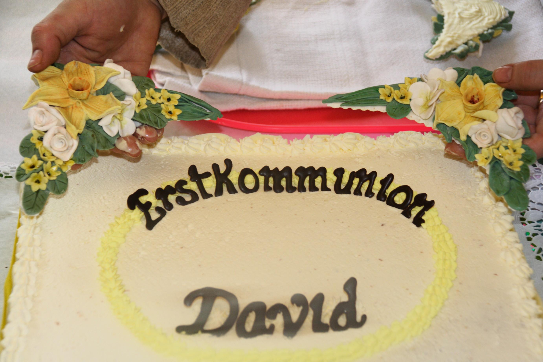 Torta Per La Prima Comunione Di David I Pasticci Di Nico