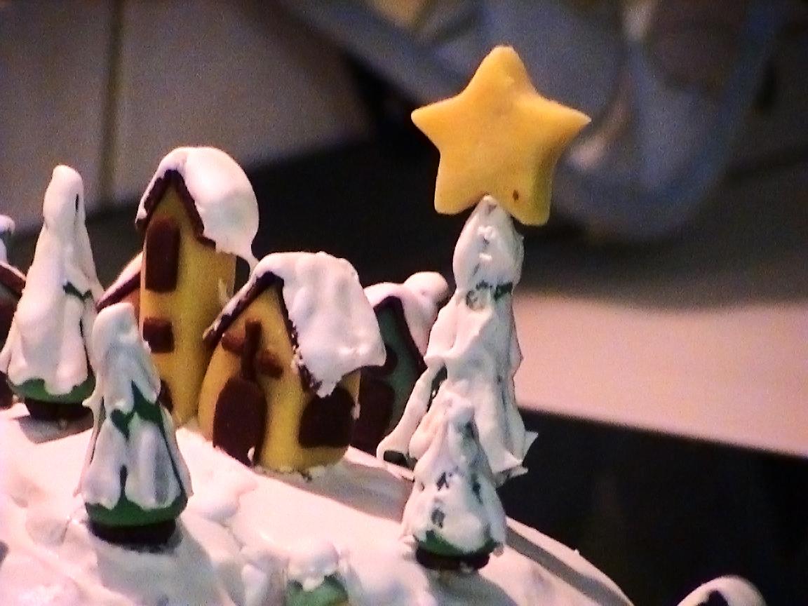 torta villaggio di Natale