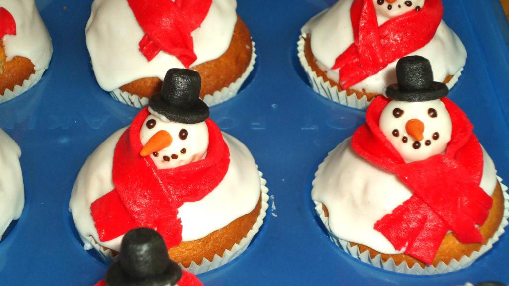 Muffins pupazzo di neve