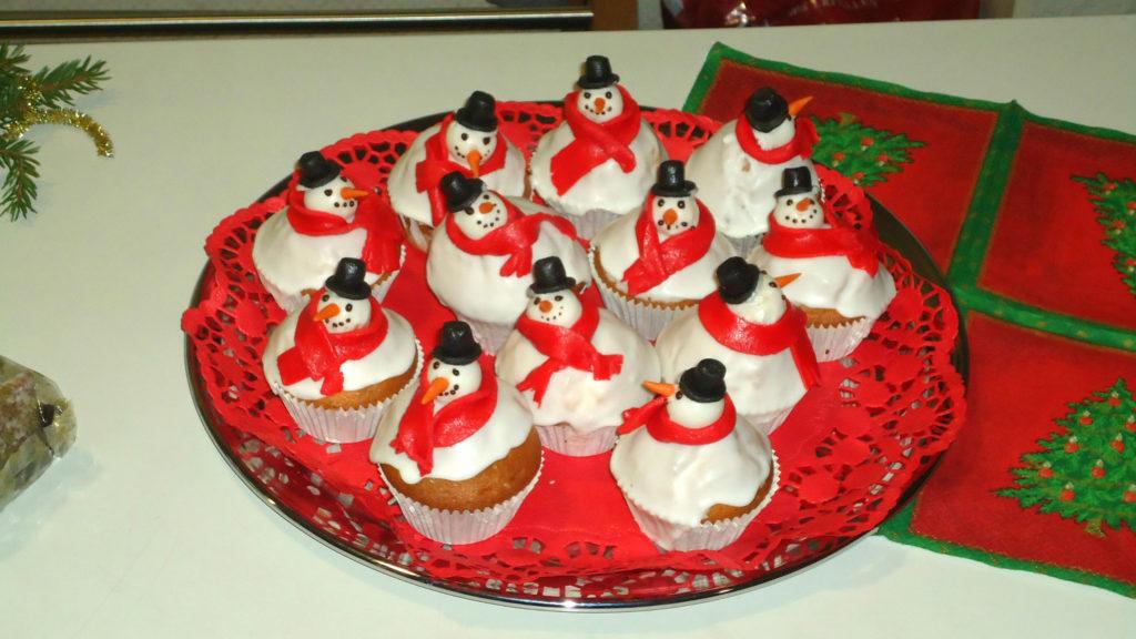 Muffins pupazzo di neve 2