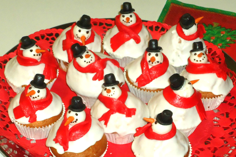 Muffins pupazzo di neve 3