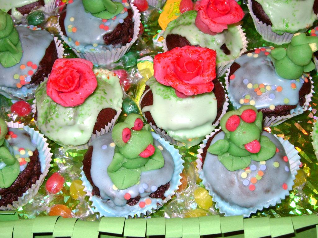 Muffins rose e ranocchi 1