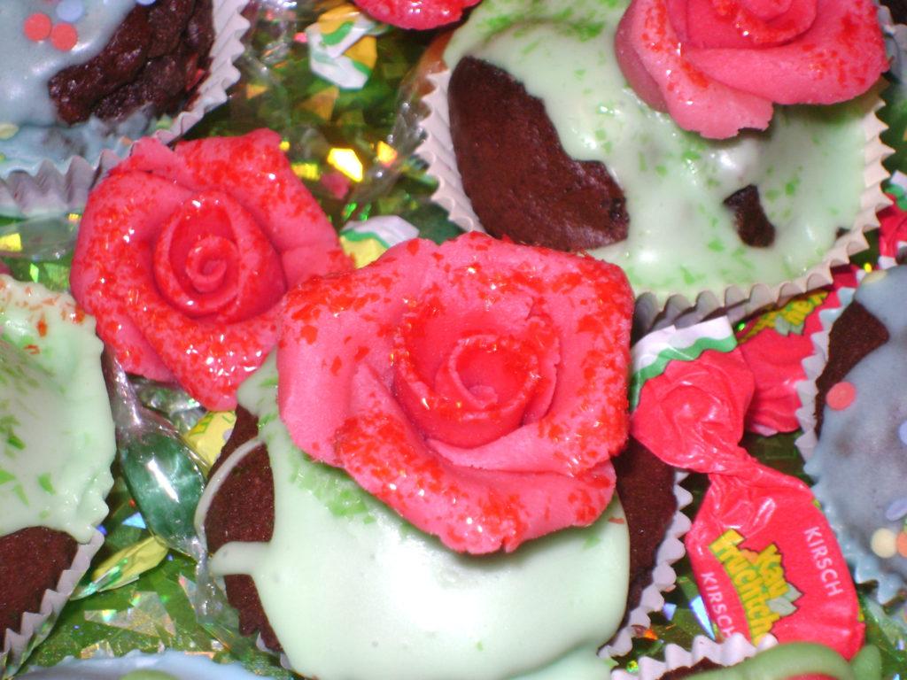 Muffins rose e ranocchi 3