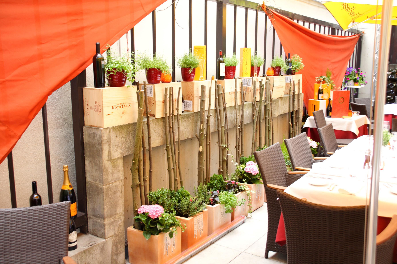 decorazione terrazza ristorante i pasticci di nico