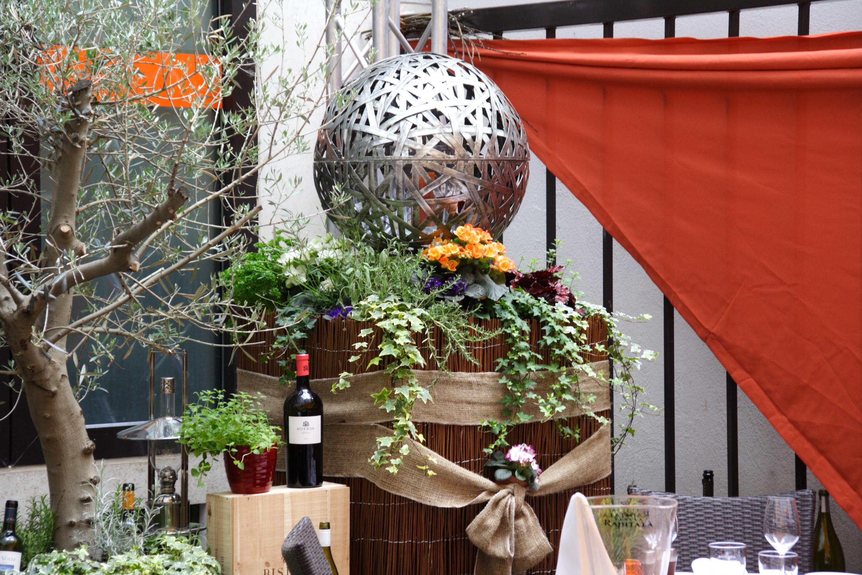Decorazione terrazza ristorante - I pasticci di Nico
