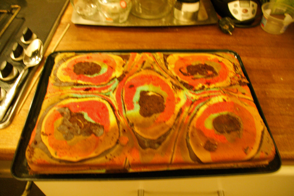 Torta cioccolato multicolore 1