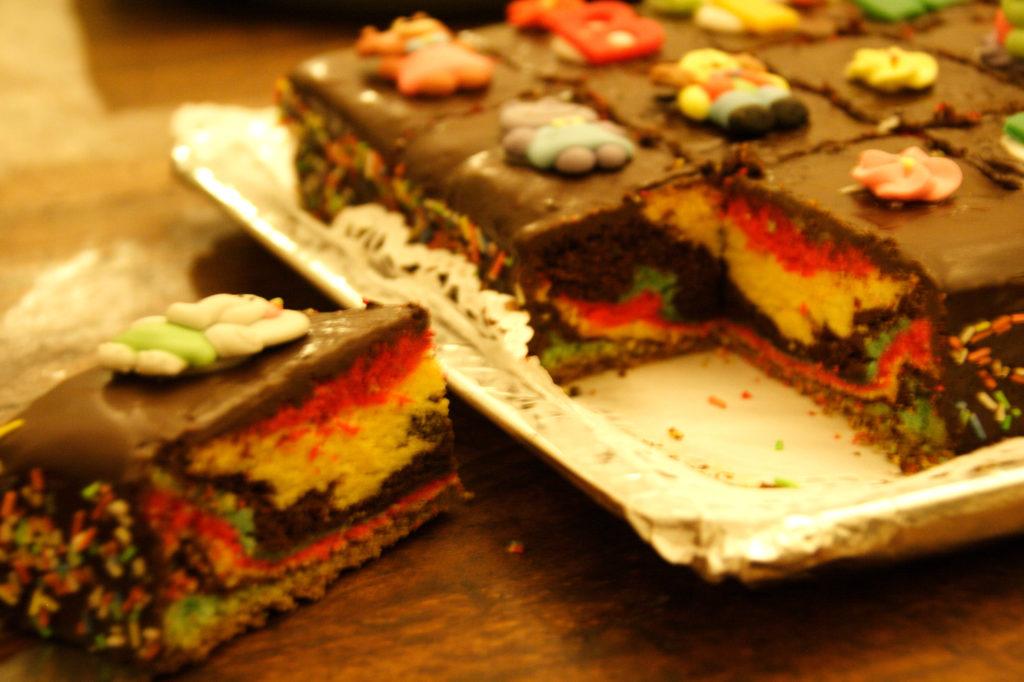Torta cioccolato multicolore 4