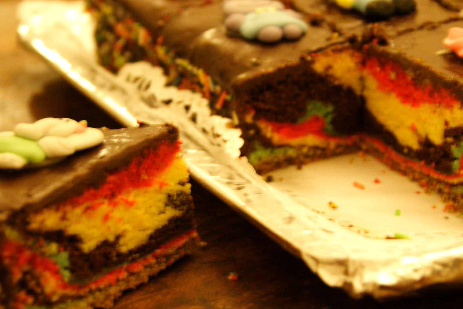 Torta cioccolato multicolore 5