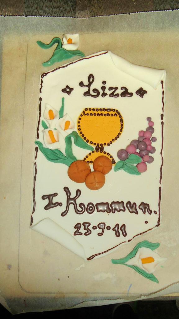 Torta Prima Comunione di Liza