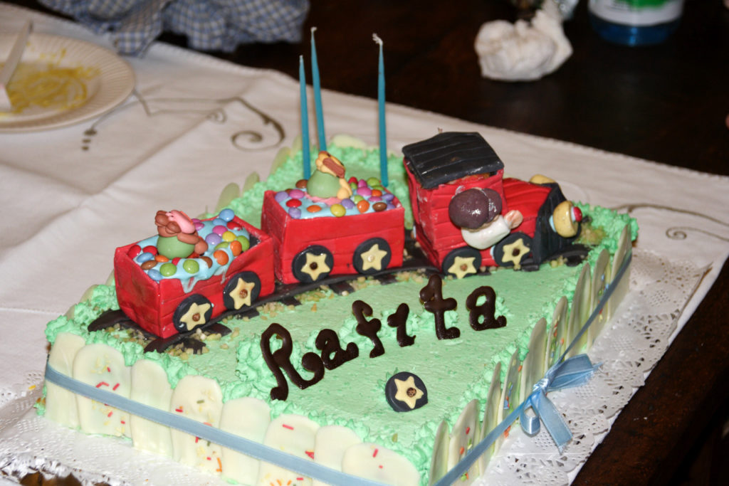 Torta trenino per un compleanno