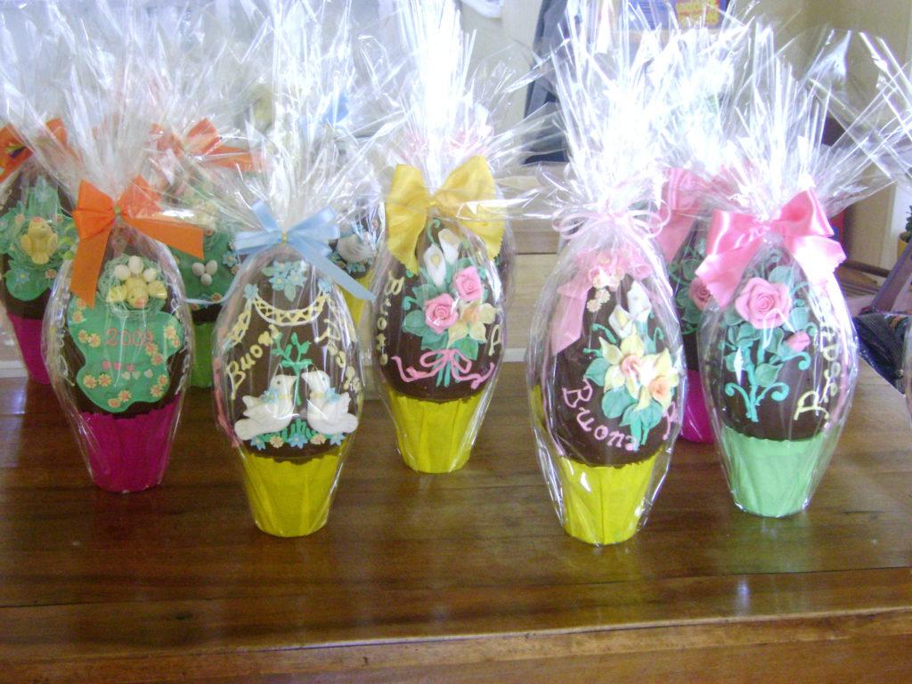 Uova di cioccolato decorate 3