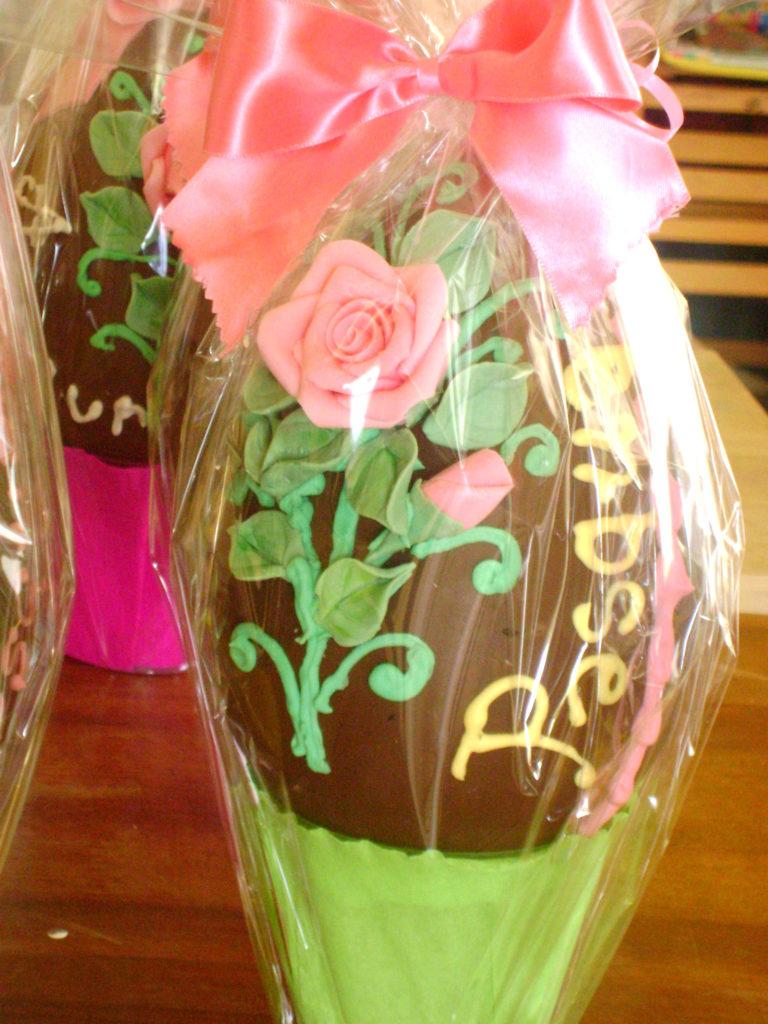 Uova di cioccolato decorate 6