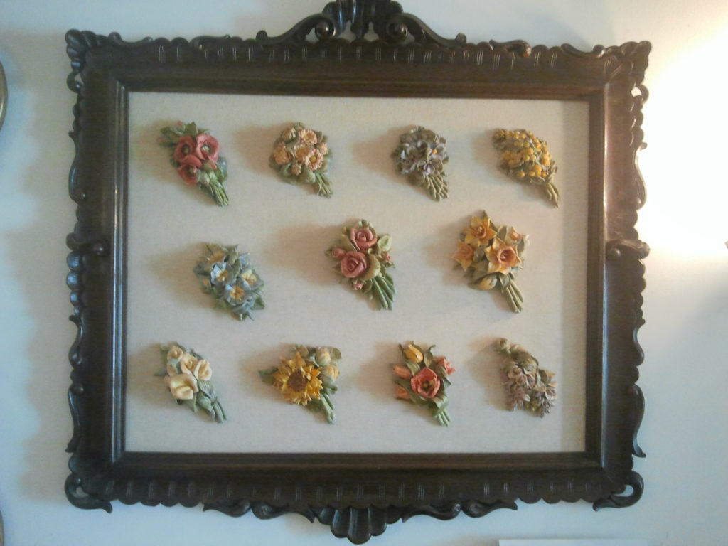Quadro fiori di pasta di sale
