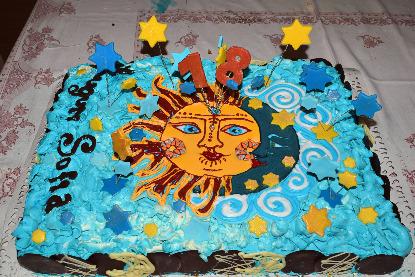 Torta Sole e Luna per Sofia